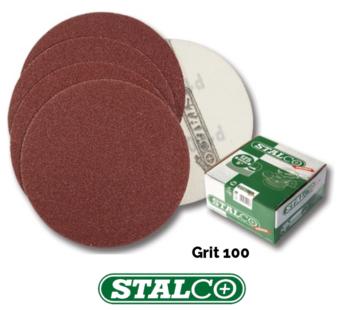 100 Grit Sanding Discs Pads Sheets Sander Sandpaper Wet, Dry Orbital Stalco