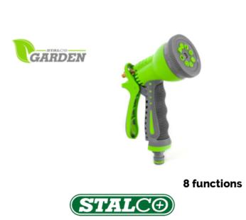8 Function Sprinkler gun Garden Water Gun Hose Pipe Sprayer Jet Spray Sprinkler Nozzle Fitting