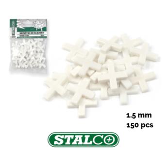 1.5MM – 150 PCS, White Tiling Tile Spacers Crosses Grouting, Floor, Wall, Cross