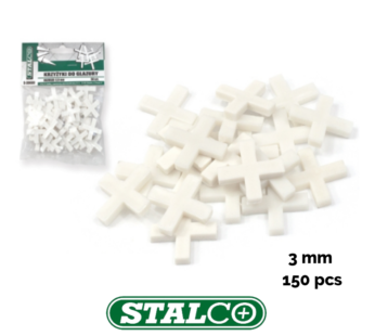 3MM – 150 PCS, White Tiling Tile Spacers Crosses Grouting, Floor, Wall, Cross