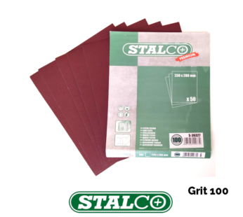 100 GRIT Wet and Dry Sandpaper Sheets Waterproof Flexible Top Quality Stalco
