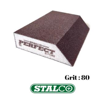 80 GRIT Abrasive Wet & Dry ANGLED Sanding Foam Sponge Block Fine Paint