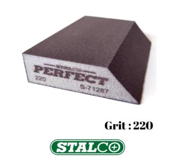 220 GRIT Abrasive Wet & Dry ANGLED Sanding Foam Sponge Block Fine Paint Stalco