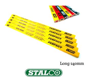 Long Blackedge Glass Ceramics Pencils Yellow Wood Marking Pencils 240mm