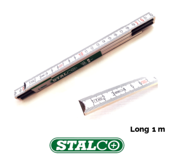 1 METER WOOD Folding Wooden Ruler Measuring Metal Tips and Joints Carpenter