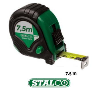 7.5 M Tape Measure Stalco Metres Blade Rubber GripLock System Quality
