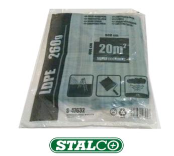 4M x 5M LARGE GRAY foil 260g Polythene Dust sheet Masking Foil Painting Stalco