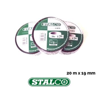 20m BLACK Electrical PVC Insulation Tape Flame Retardant Rolls Insulating Stalco