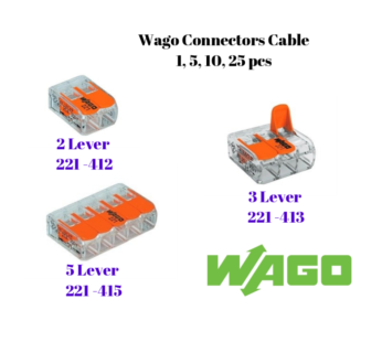 Wago Connectors Cable 221 Series 221-412 221-413 221-415 Electrical Wire